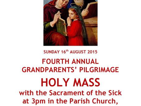Annual Grandparents' Pilgrimage