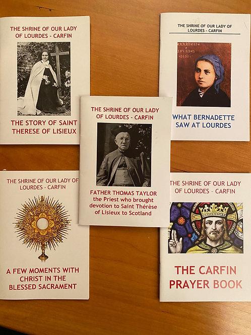 Carfin Prayer book bundle (5)