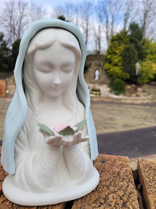 Porcelain Blue Madonna (With LIGHT)