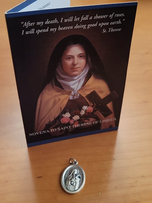 St Therese Novena Card & Medal