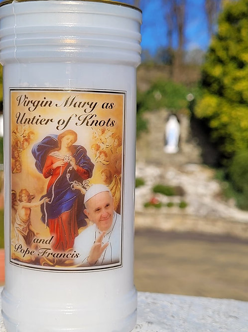 Tall Virgin Mary untier of Knots Candle
