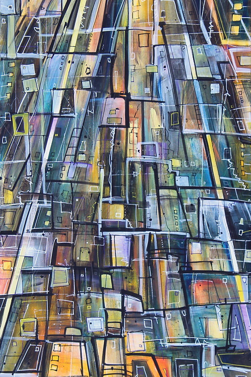 "In the Presence of the Tower 1 60"" x 36"""