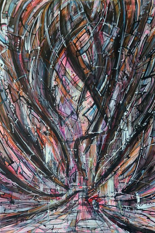 A Dozen Hawks Descend - PRINT - 36 x 54
