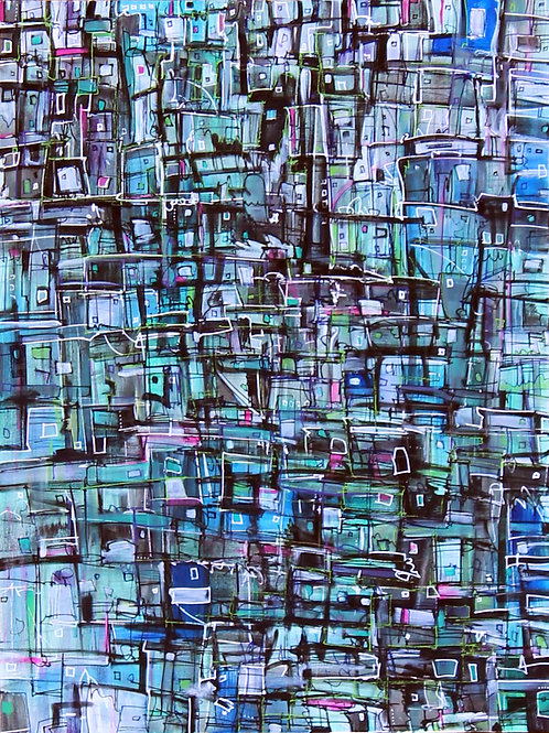 City in the Waterfall 3 - PRINT - 48 x 36