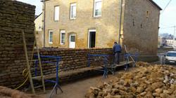 Rénovation d'un mur