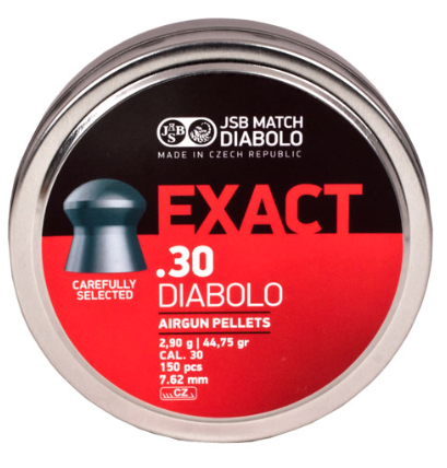 JSB Diabolo Exact Pellets, .30 Cal, 44.75