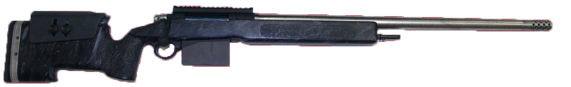 custom long range 338 laupa rifle