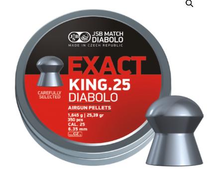 DIABOLO EXACT KING .25 CALIBER 25.39 gr
