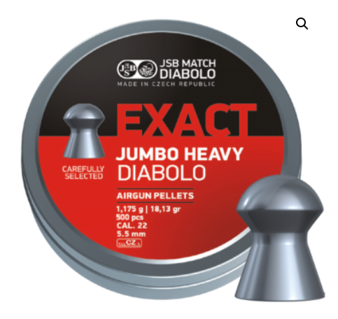 JSB JUMBO EXACT HEAVY .22 500 COUNT