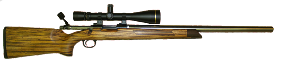 varmint and prairie dog hunting rifle in 22br