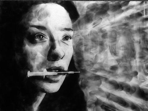 'Eden' Soot Portrait