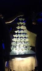 cascade de champagne  mise en lumiere par Mario Animation
