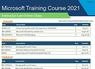 Microsoft Instructor-Led Online Class