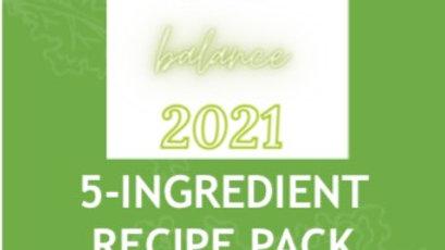 Balance Your Life 5 Ingredient Recipe Ebook