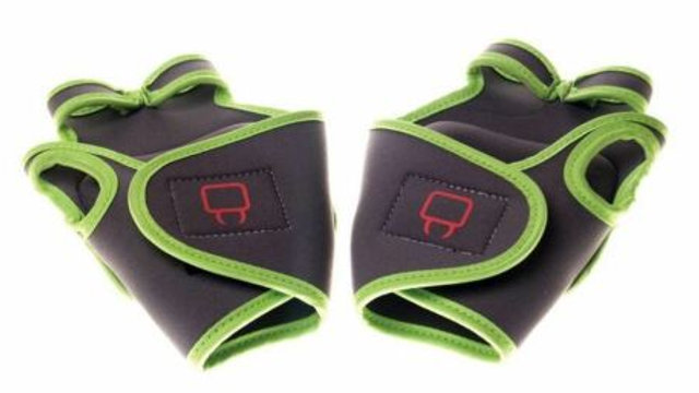 Combat Gloves Lime Green & Black