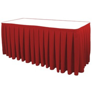 Non-Printed Box Pleat Table Skirt