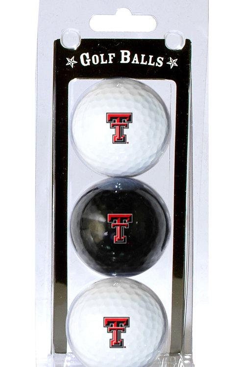 Texas Tech Red Raiders Golf Balls 3 Pack