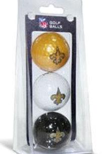 New Orleans Saints Golf Balls 3 Pack