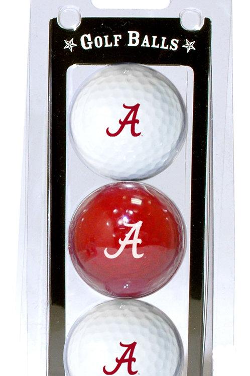 Alabama Crimson Tide Golf Balls 3 Pack