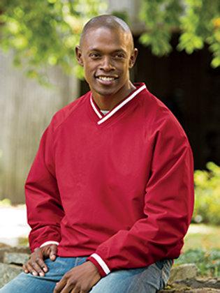 Adult Long-Sleeve Microfiber Crossover V-Neck Wind Shirt #8926