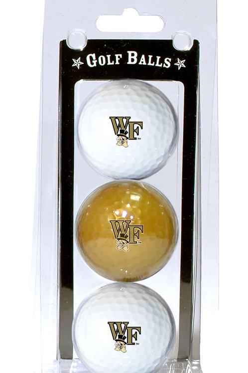 Wake Forest Demon Deacons Golf Balls 3 Pack
