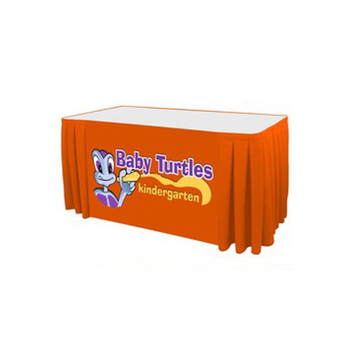 Digital Box Pleat Table Skirt
