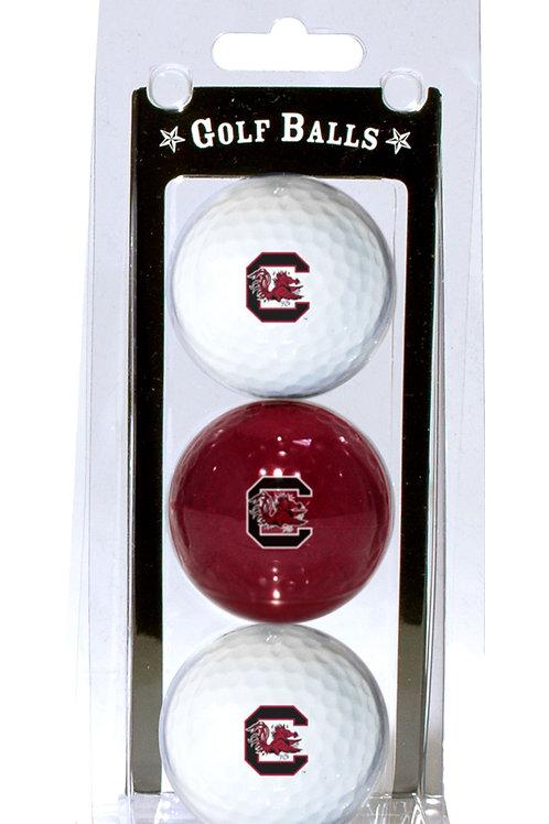South Carolina Gamecocks Golf Balls 3 Pack