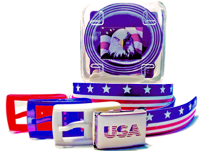 American Flag Belts
