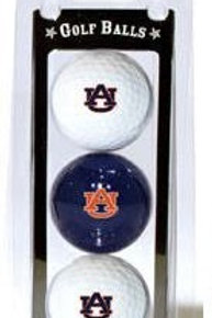 Alabama Auburn Tigers Golf Balls 3 Pack