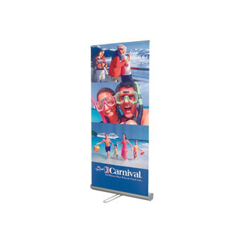 "33""W x 82""H Adjustable/Retractable Banner & Stand"