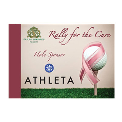 Pink Ribbon Golf Pin Flag