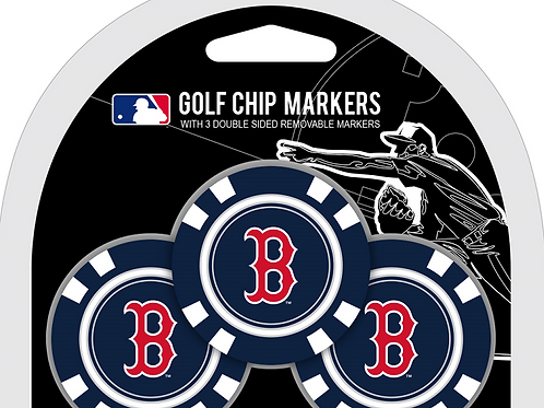 Boston Red Sox 3 Pack Golf Chips