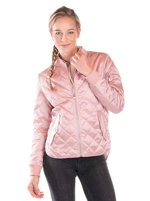 Women's Quilted Boston Flight Jacket Style#WQJ-P