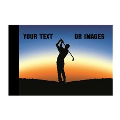 Sunset Golfer Golf Pin Flag
