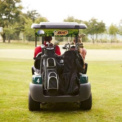 Golf Cart Banner Wrap - Back