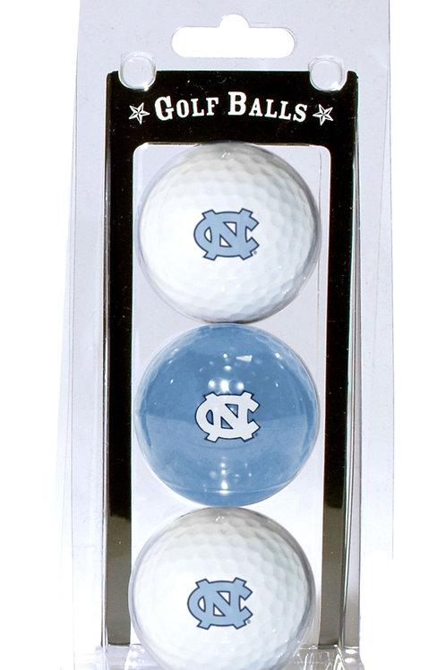 North Carolina Tar Heels Golf Balls 3 Pack