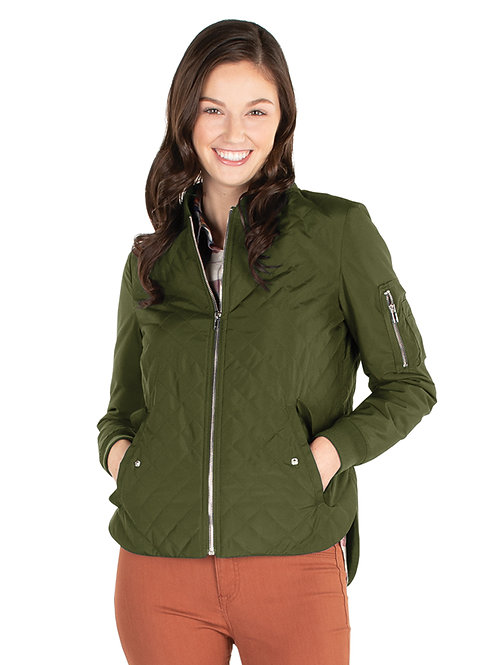 Women's Quilted Boston Flight Jacket Style#WQJ