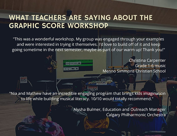 Graphic Score - Graphic 2 (what teachers