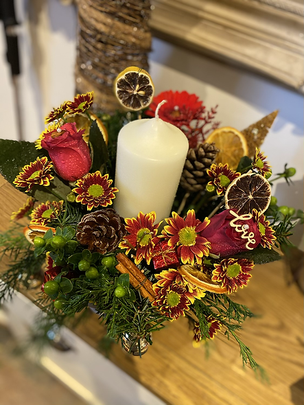 Christmas Candle Center Piece