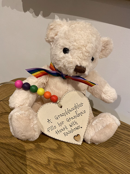 Teddy with personalised plaque