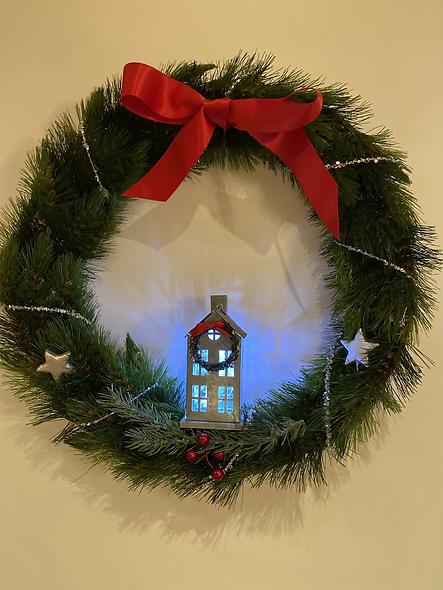 Christmas House Wreath