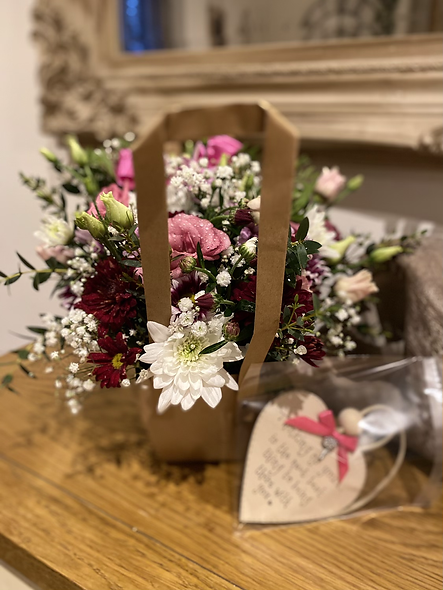 Flower Bag with personalised plaque