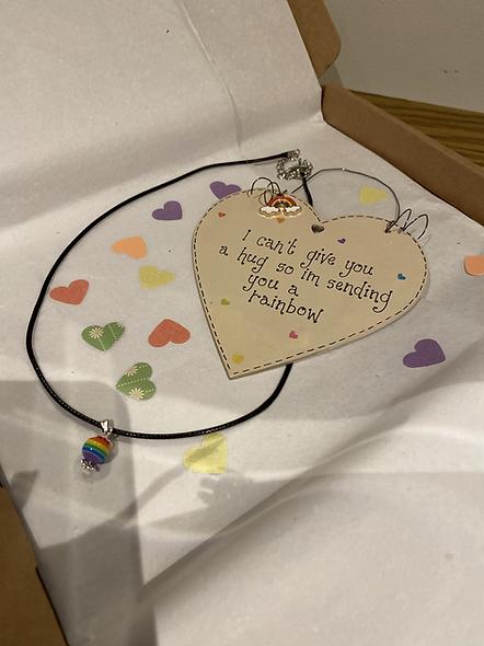 Rainbow plaque and neclace