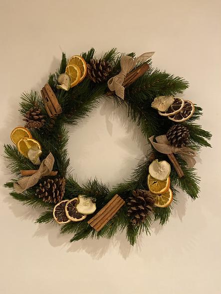 Christmas Fruit Wreath