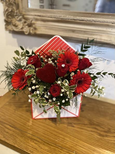 Envelope of roses