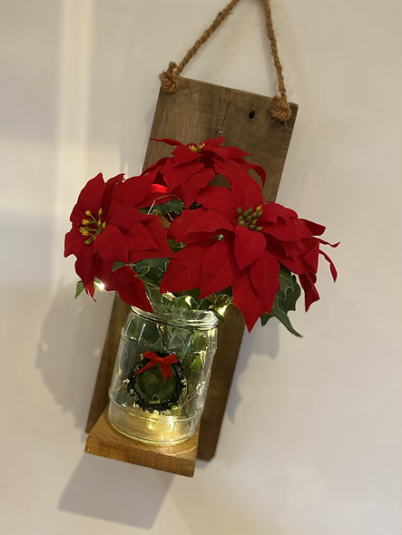 Wall hanging Poinsettia