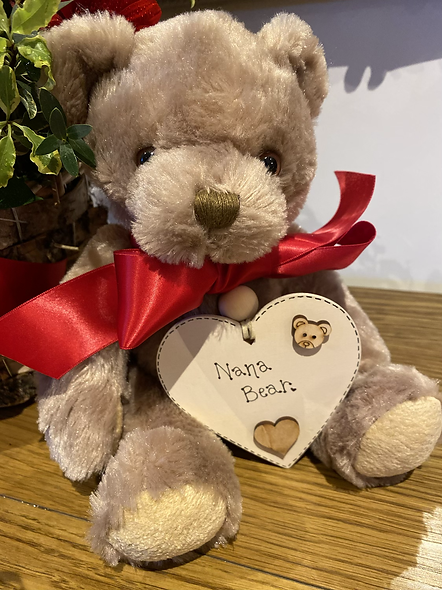 Teddy  with personised plaque
