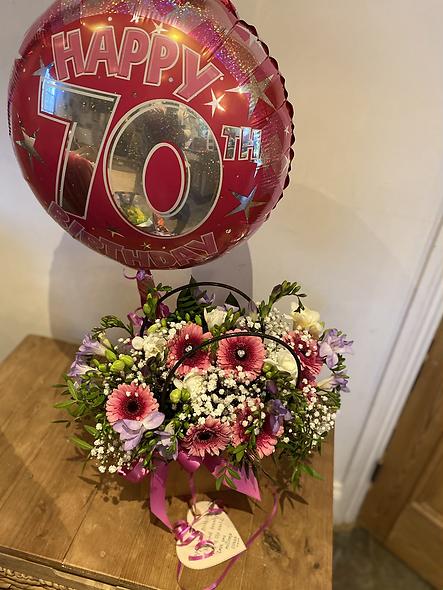 70th Birthday Arrangement