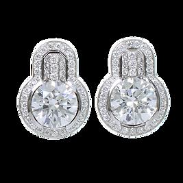 Diamant Ohrstecker Halo