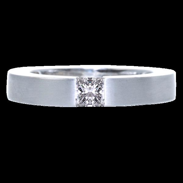 neff-diamonds.com, Verlobungsring, Platin, Prinzessdiamant